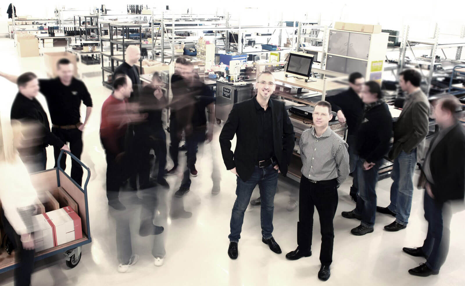 ELEMENT ONE team in warehouse